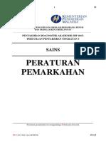 Peraturan Pemarkahan Percubaan Sbp Pt3 2015- Sains