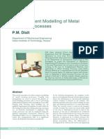 FEM modeling of Metal Forming