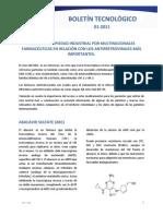 Boletin_Tecnologico Patentes en Colombia de Faramceuticas