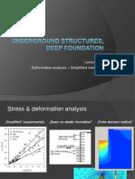 Underground Structures Deep Foundation