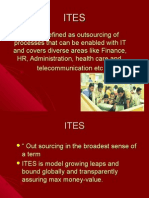 ITES is Defined as Outsourcing of Processes