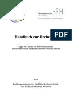Recherche Hand Buch