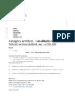 Consti and Political Law