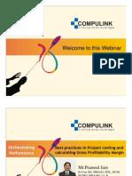 Project Costing Webinar