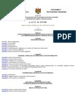 L E G E privind actele normative ale Guvernului şi ale altor autorităţi  ale administraţiei publice centrale şi locale    nr. 317-XV  din  18.07.2003