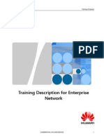 Huawei_Training Description for Enterprise Network