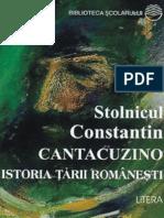 Cantacuzino C-tin - Istoria Tarii Romanesti (Aprecieri)