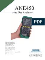 Kane 450 Operating Manual
