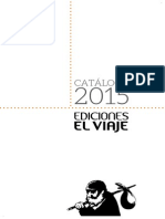 Catálogo Ediciones El Viaje octubre 2015
