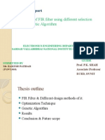 Optimal Design of FIR Filter Using Different Selections in GA.pptx