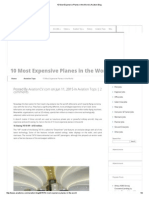 10 Most Expensive Planes in the World _ Aviation Blog