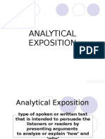 Analytical Exposition PAI