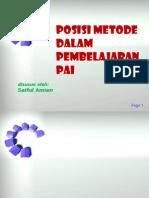 1 Posisi Metode Dalam Pembelajaran Pai