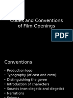 Codes and Conventions of Opening Film Sequences