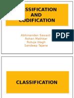 Classification and Codification