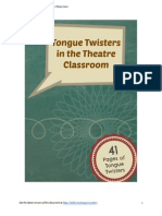 Tongue Twisters in the Theatre Classroom