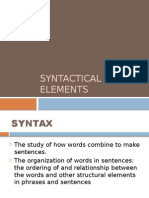 Syntactical Elements