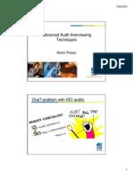 Advancing Audit Interviewing Techniques
