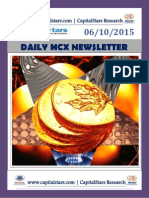 Daily MCX Commodity Market Updates – 06 OCT 2015