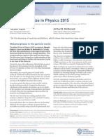 Nobel Prize - Physics 2015