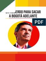 Propuestas a la Alcaldía de Bogotá 2016 - 2020 Rafael Pardo