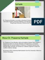 Dr Prasanna Karhade