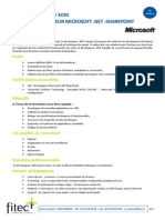 Cours Du Soir Developpeur Microsoft.net Sharepoint
