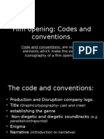 Codes and Conventions of Film Opening