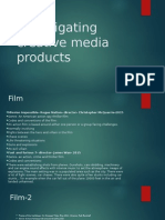 Investigating Creative Media Products