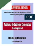 Auditoria de Gobierno Corporativo