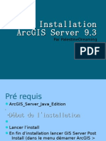 Installation d'ArcGIS Server 9.3