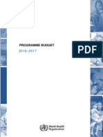 Budget Who tahun 2016- 2017