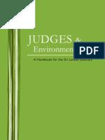 Judges Environmental Law a Handbook for the Sri Lankan Judiciary