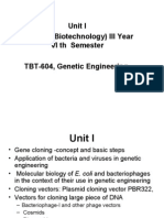 Genetic Engineering UNIT I A