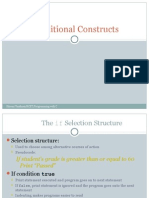 Conditional Constructs