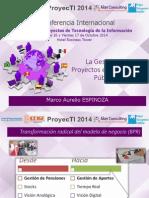 ProyecTI 2014 - Expositor Marco Aurelio Espinoza