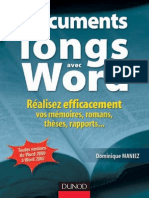 Vos Documents Longs Avec Word