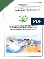 Etude Environnementale des  Barrages