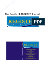 The Profile of REGISTER Journal