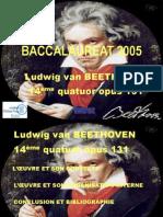 Beethoven Analyse Quatuor n14 de Beethoven