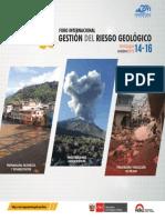 Programa General Foro sobre Gestión de Riesgo Geológico