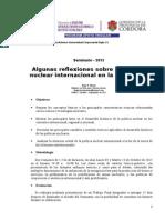 """HUGO MARTIN ATOMICA CORDOBA SEMINARIO """"REFLEXIONES SOBRE LA POLITICA NUCLEAR INTERNACIONAL EN LA ACTUALIDAD"""" - UNIVERSIDAD EMPRESARIAL SIGLO 21 - CNEA-CORDOBA - PROGRAMA APOYO VINCULAR"""