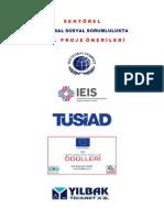 Sektorel Kurumsal Sosyal Sorumlulukta 5.Yil Proje Onerileri (Ali Rıza Deger & Yilbak Ticaret a.S.)