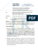 INFORME N°   009-2015-ALE-MDPM  PERMISO PARA EJERCER DOCENCIA UNIVERSITARIA