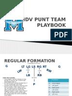 punt team playbook