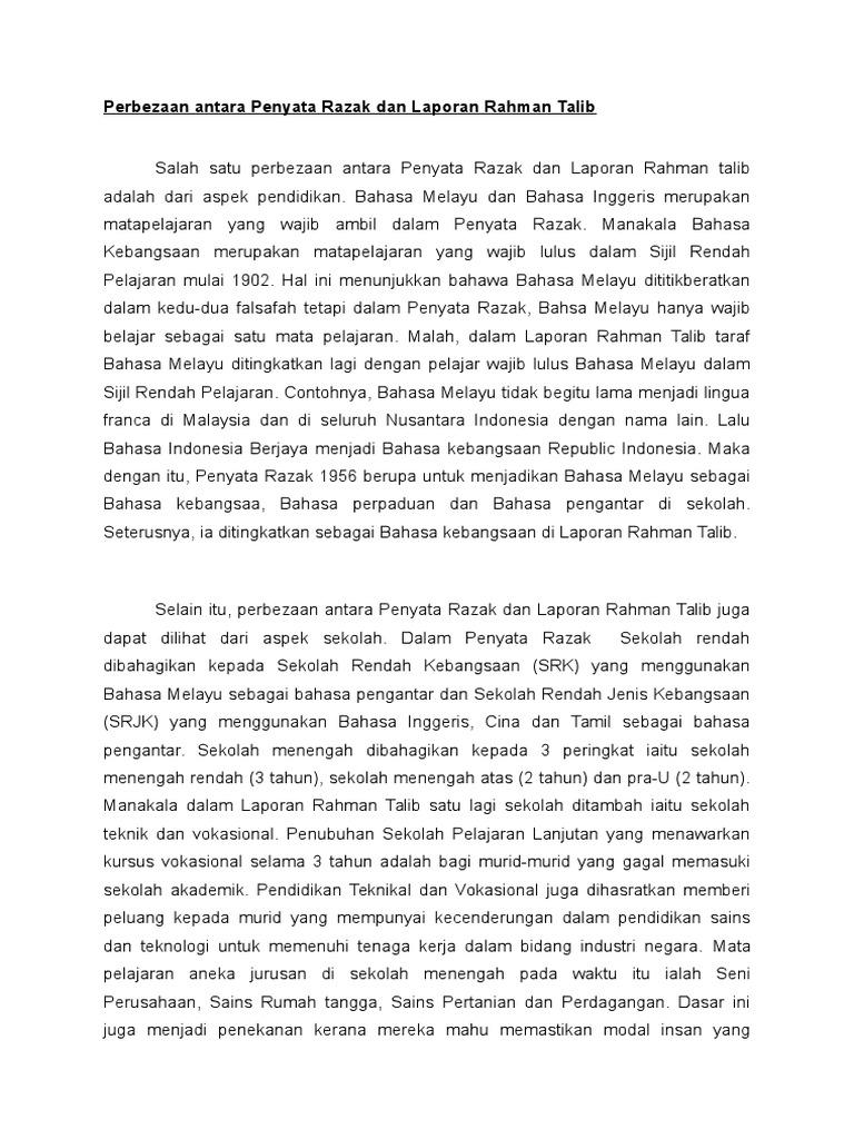 Presentation M 9 Perbezaan Penyata Razak Dan Rahman Talib