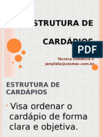 Estrutura de Cardapios Tdii (1)