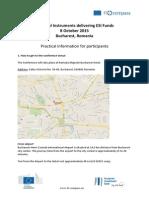 Practical Information Bucharest 081015
