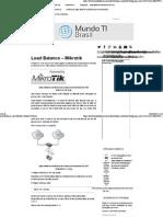 Load Balancer Com Mikrotik _ Mundo TI Brasil