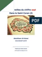 Les merveilles du chiffre sept Dans le Saint Coran (2)